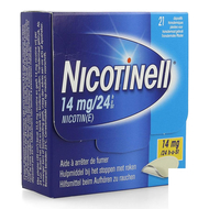 Nicotinell 14mg/24u pleister transdermaal 21st