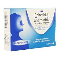 Rhinathiol Antirhinitis rhume tablettes 40pc
