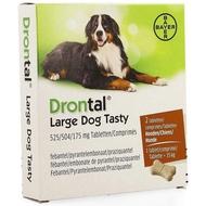 Drontal Large dog tasty 525/504/175mg comprimés 1x2pc