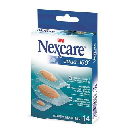 Nexcare Aqua 360 Waterbestendige strips 14st