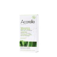 Acorelle Koude wasstrips bio gelaat 20st + olie 4,8ml