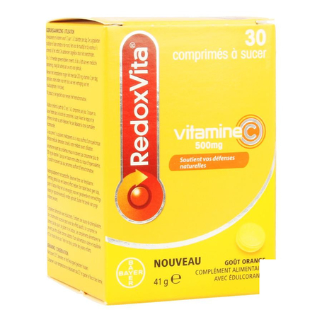 Redoxvita 500mg sinaasappel zuigtabletten 30st