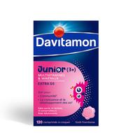 Davitamon Junior V1 Multivitaminen frambozensmaak kauwtabletten 120st