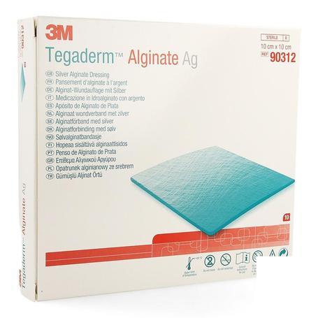 Tegaderm alginate ag 10cmx10cm 10 90312