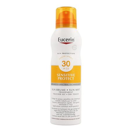 Eucerin Sun Spray Transparent Dry Touch Sensitive Protect SPF30 200ml