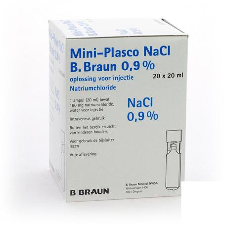 B Braun Mini-plasco NaCl 0,9% 20x20ml