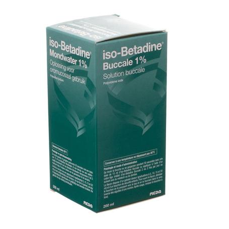 Iso-Betadine Solution buccale 1% flacon 200ml