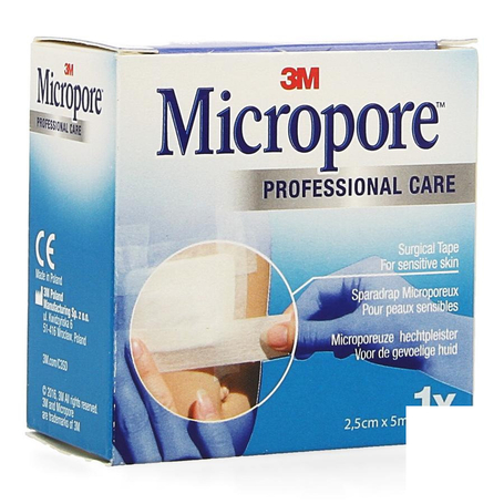 3M Micropore tape refill 25,0mmx5m roul.1pc