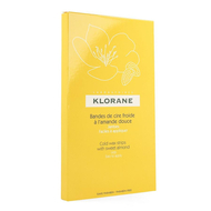 Klorane corps depilat. cire froide jambes bandes 6