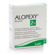 Alopexy 2 % liquid fl plast pipette 3x60ml