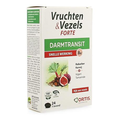 Ortis Fruits & Fibres Forte transit intestinal comprimés 24pc