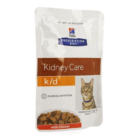 Hills prescrip.diet feline kd maaltijdzakje 12x85g