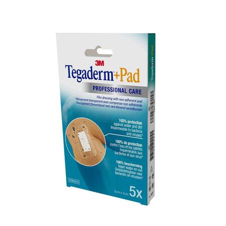 3M Tegaderm + Pad transp steril 5cmx 7cm 5st