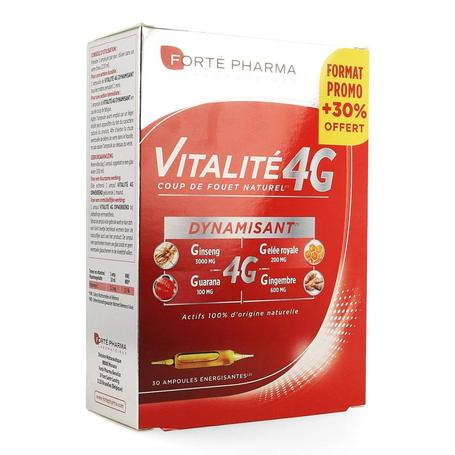 Forté Pharma Vitalité 4G dynamisant 30pc + 30% offert