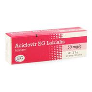Aciclovir eg labialis creme 2gr