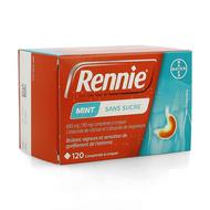 Rennie zonder suiker pastilles 120