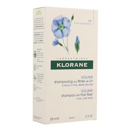 Klorane Volume Shampoo met Vlasvezels 200ml