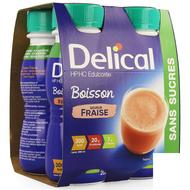 Delical HP HC Drank zonder suiker aardbei 4x200ml
