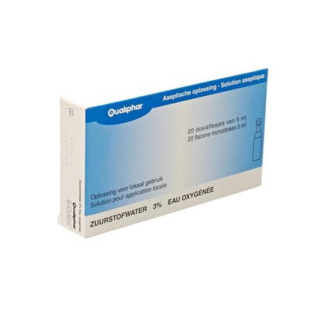 Eau oxygenee stabilisee 3% unit dose 20x5ml