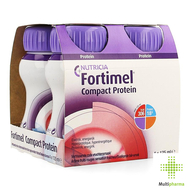 Nutricia Compact Protein Rode Vruchten 125 ml 4st