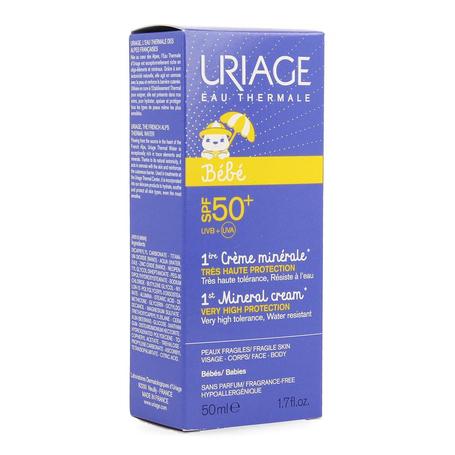 Uriage Baby 1ste minerale crème SPF50+ 50ml