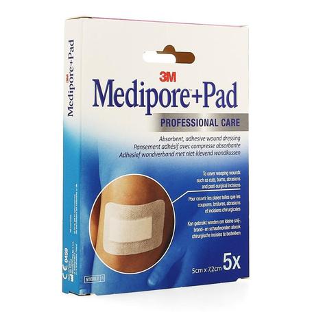 3M Medipore + Pad 5x 7,2cm 5pc