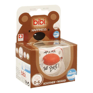 Bibi sucette Happiness Dental papa is the best 0-6 mois 1pc