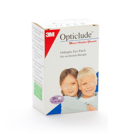 3M Opticlude cp oculaire stand 82mmx57mm 20pc
