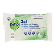 Dettol 2in1 hygienische doekjes 12