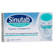 Sinutab 500/30mg comp 15