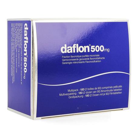 Daflon 500mg filmomhulde tabletten 180st