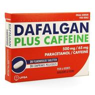 Dafalgan plus caffeine 500mg/65mg comp pell 20