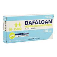 Dafalgan pediatrie 150mg suppo 12st