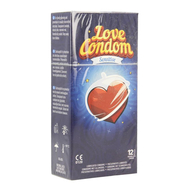 Love condom sensitive condooms met glijmiddel 12