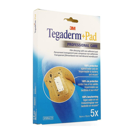 3M Tegaderm + Pad transp steril 9cmx10cm 5pc
