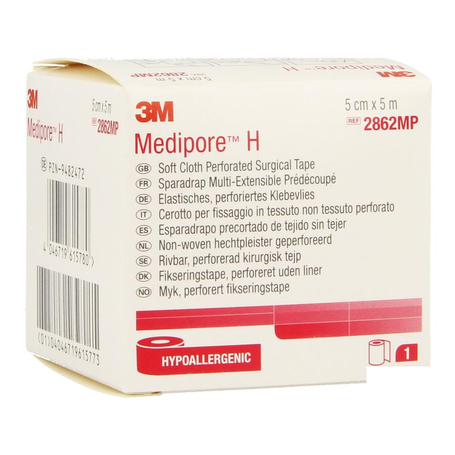 3M Medipore H perforated 5cmx5m rol 1st