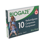 Biogaze 10 compresses 10 x10 cm