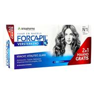 Forcapil Versterkend haar en nagels Promo pack 3maanden 180caps