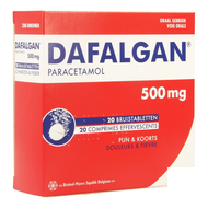 Dafalgan comprimés effervescents 500mg 20pc