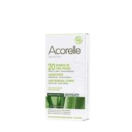 Acorelle Koude wasstrips bio oksel en bikinilijn 20st + olie 4,8ml