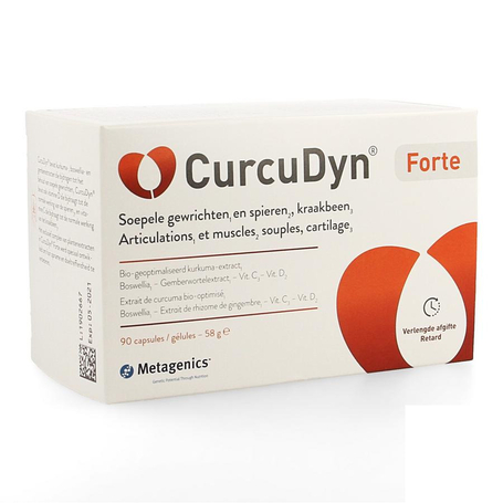 Metagenics CurcuDyn Forte articulations et muscles capsules 90pc