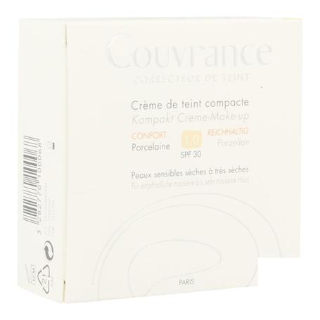 Avene Getinte Compact Crèmes Comfort Porcelaine (01) 10gr
