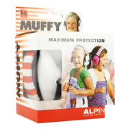 Alpine muffy casque auditif kids blanc/rouge