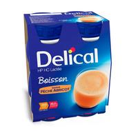 Delical Boisson pêche-abricot 4x200ml