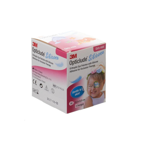 Opticlude 3m silicone eye patch girl mini 50