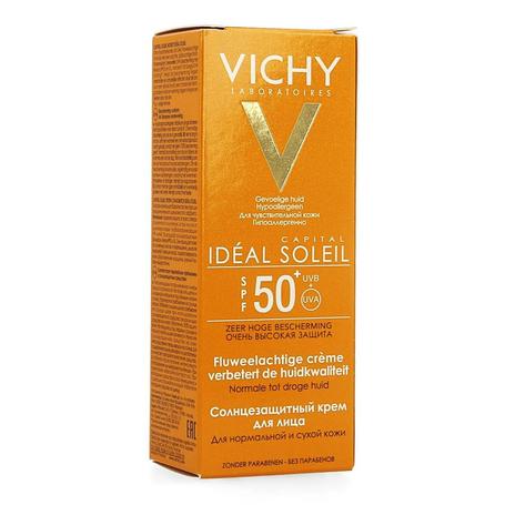 Vichy Idéal Soleil Fluweelachtige gezichtscrème SPF50+ 50ml