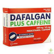 Dafalgan plus caffeine 500mg/65mg filmomh tabl 30