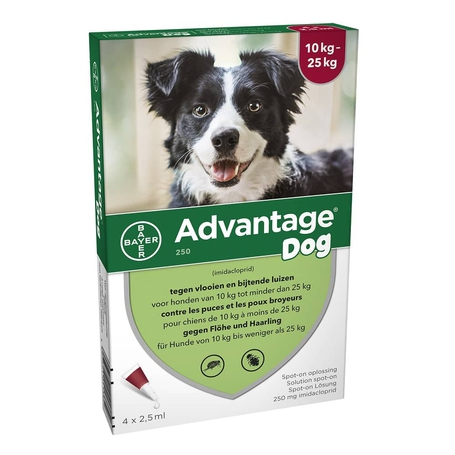 Advantage Dog 250 Honden 10<25kg 4x2,5ml