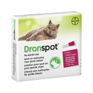 Dronspot 96mg/24mg spot-on kat groot >5-8kg pip 2