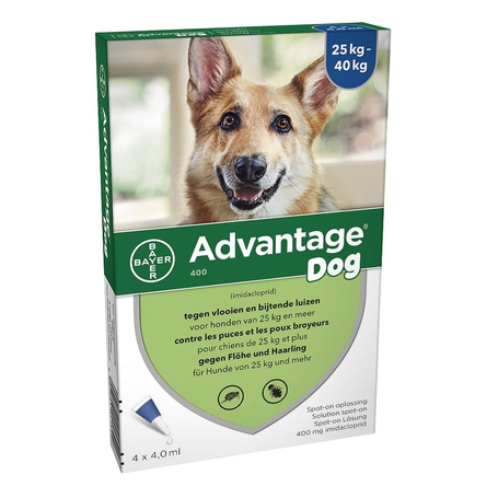 Advantage Dog 400 Chiens 25<40kg 4x4ml
